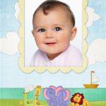 Marco de trencito para fotos de bebés