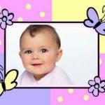 Marco para decorar fotos de bebés