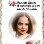 Marco de Feliz Cumpleaños con rosas