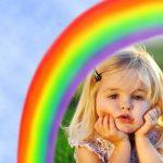 Marco de arcoiris gratis