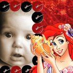 Marco infantil de Princesa Ariel