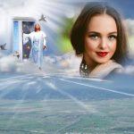 Marco de cielo junto a Jesús