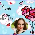 Marco para Día de la Madre con corazones