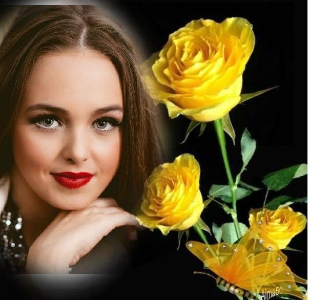 Marco De Rosas Amarillas Para El Día De La Mujer Marcos Para Fotos